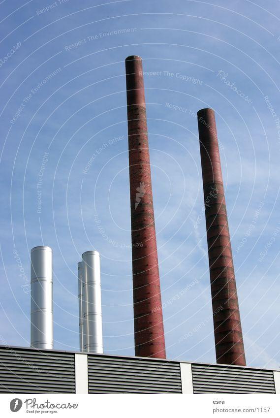 Die vier Himmel Luft Metall dreckig Umwelt Industrie Fabrik Schornstein Umweltverschmutzung Produktion