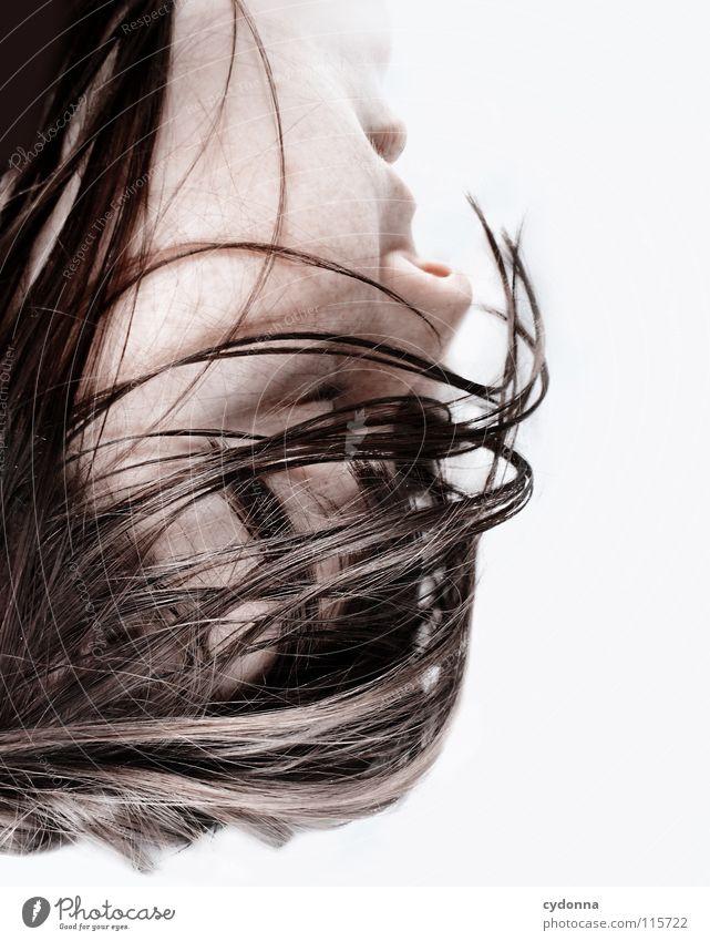 ALL IS FULL OF LOVE Frau Mensch Natur schön schwarz ruhig feminin Leben Gefühle Kopf Haare & Frisuren Stil Traurigkeit träumen Kunst Mund