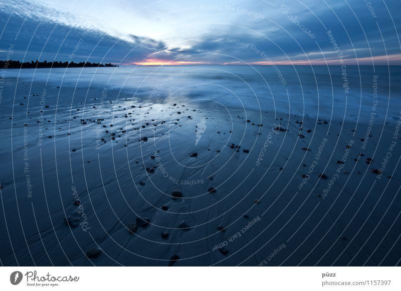 Blaue Stunde Ferien & Urlaub & Reisen Tourismus Ferne Freiheit Strand Meer Insel Wellen Umwelt Landschaft Wasser Himmel Horizont Küste Nordsee Sylt Erholung