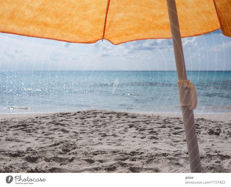 Schon wieder Urlaub Himmel Ferien & Urlaub & Reisen blau Sommer Wasser Sonne Erholung Meer Strand gelb Wärme Küste Schwimmen & Baden Sand Tourismus Wellen