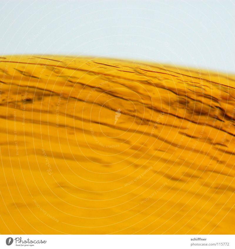 Risse in der Sonne gelb abstrakt Hintergrundbild Makroaufnahme Nahaufnahme Strukturen & Formen Maserung Furche sonnengelb orange Lampe Beleuchtung Bogen