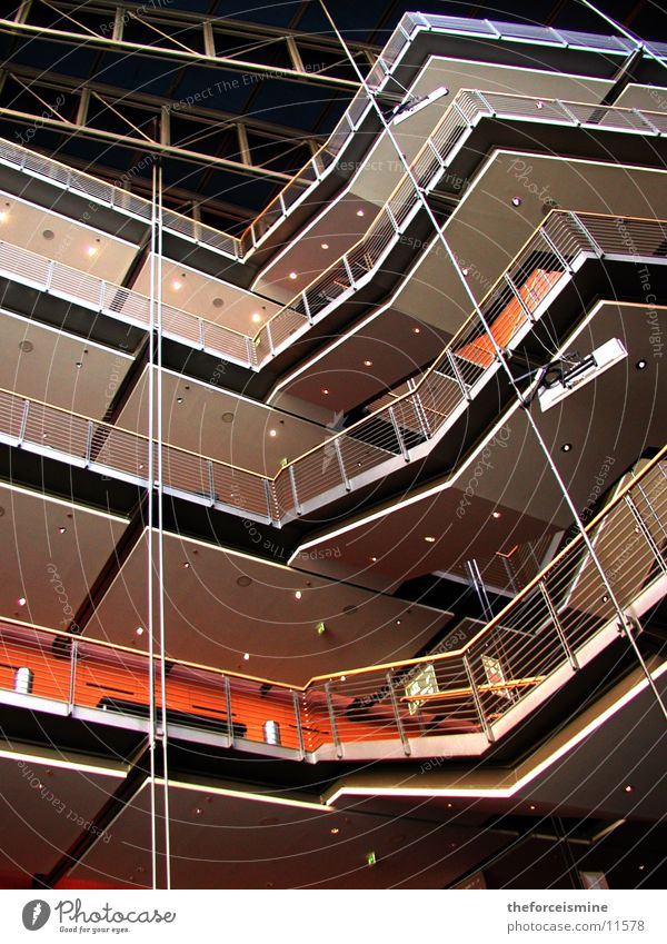 Theater am Potsdamer Platz Architektur Treppe modern Niveau Innenarchitektur Theater Etage