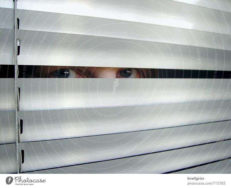 Geheime Sachen Auge hell glänzend verstecken silber Spalte Lamelle Jalousie