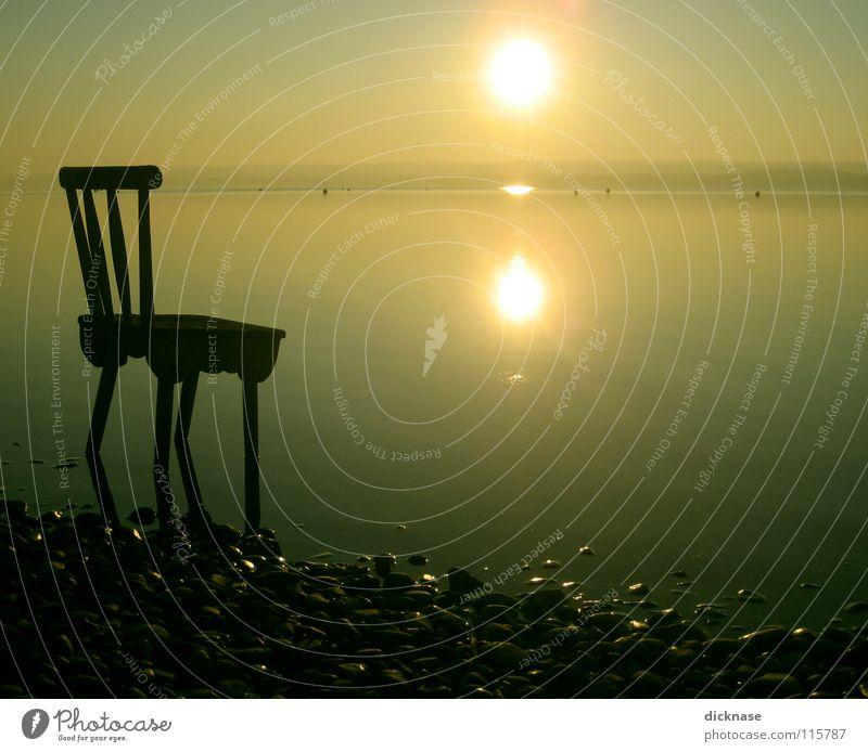 The Place to be™ (für die Jungs™) Sonne Erholung träumen See warten Stuhl Bayern Aufenthalt vergessen Inspiration ausschalten