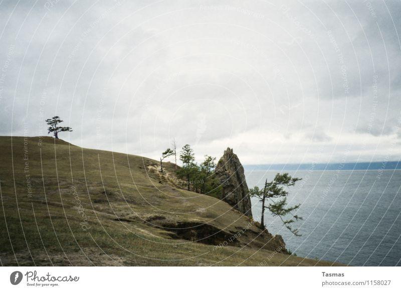 Olchon Insel Wasser Baum Landschaft See Felsen Erde Abenteuer Seeufer schlechtes Wetter