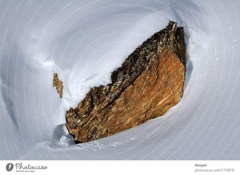 Schneefels Winter ruhig Berge u. Gebirge Felsen Geborgenheit