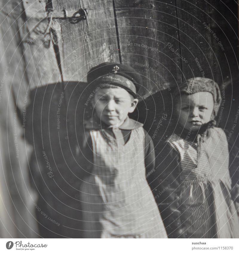 gertrud und karl-hans Fotografie Familienalbum alt Erinnerung analog Schwarzweißfoto Kind Familie & Verwandtschaft Mädchen Junge 2. Weltkrieg Dreißiger Jahre