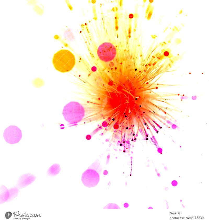 °spritz Explosion Lichtspiel Spielen Kunstwerk Feuerwerk spritzen Lichtpunkt Lichtkreis Verschiedenheit groß rund klein lichtmagnetisch Streulicht