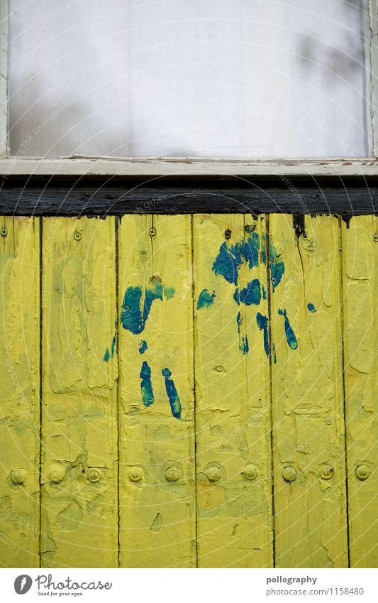 FR UT | Wir haben Spuren hinterlassen! Freizeit & Hobby Spielen Basteln heimwerken Hausbau Renovieren Dekoration & Verzierung Holz Glas ästhetisch Hand Abdruck