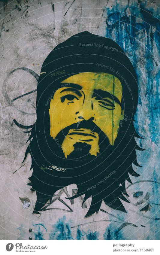 ich drück mal nen auge zu Mensch Jugendliche Mann Junger Mann 18-30 Jahre Erwachsene gelb Leben Graffiti Stil Lifestyle Kopf Design maskulin authentisch Grafik u. Illustration