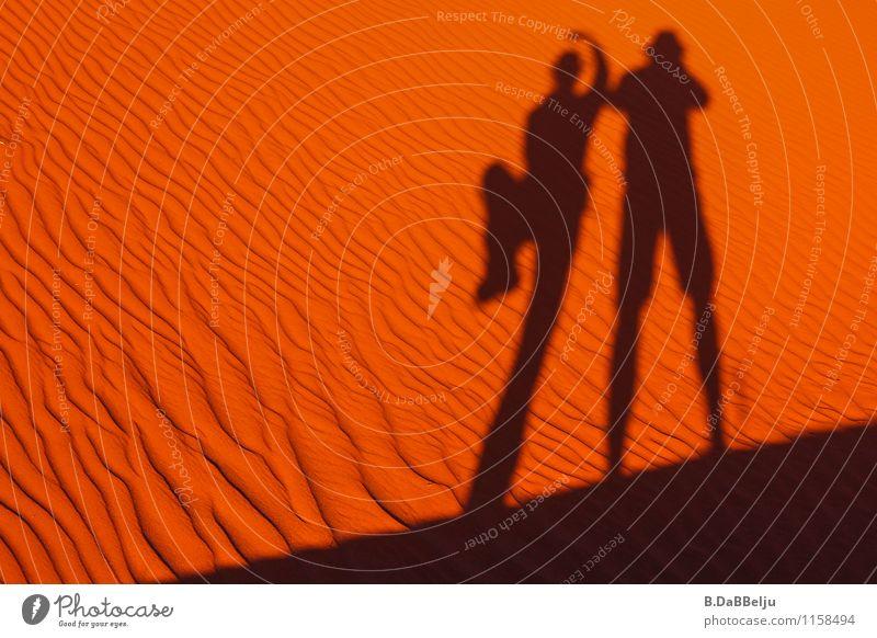 Wüsten-Ballett Safari Sand Wärme Namib lustig rot Afrika Namibia Schattenspiel Balletttänzer Ferien & Urlaub & Reisen Farbfoto Außenaufnahme Textfreiraum links