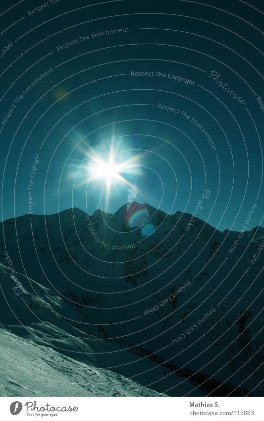 sunny side up Panorama (Aussicht) Winter See Bundesland Tirol Ischgl Österreich weiß Tiefschnee Seilbahn Skilift Skifahrer Lawine Tourismus Wolken Gipfel