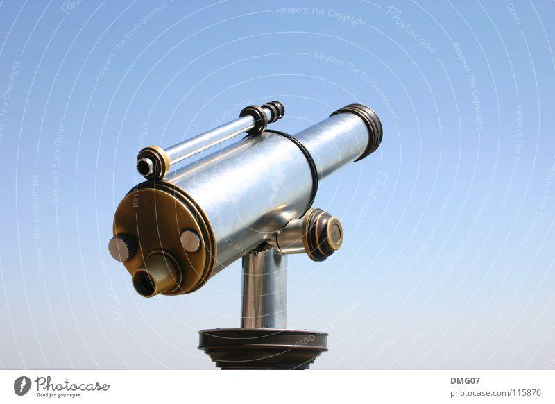 Fernweh Himmel blau Ferien & Urlaub & Reisen Sommer Ferne Reisefotografie Tourismus Ausflug Zukunft Perspektive Aussicht Fernweh Sightseeing Fortschritt Fernglas Teleskop