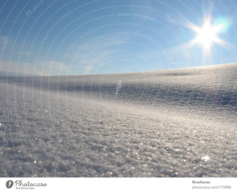 Winterlandschaft Himmel Sonne Wolken kalt Schnee Landschaft Eis glänzend sanft Schneelandschaft
