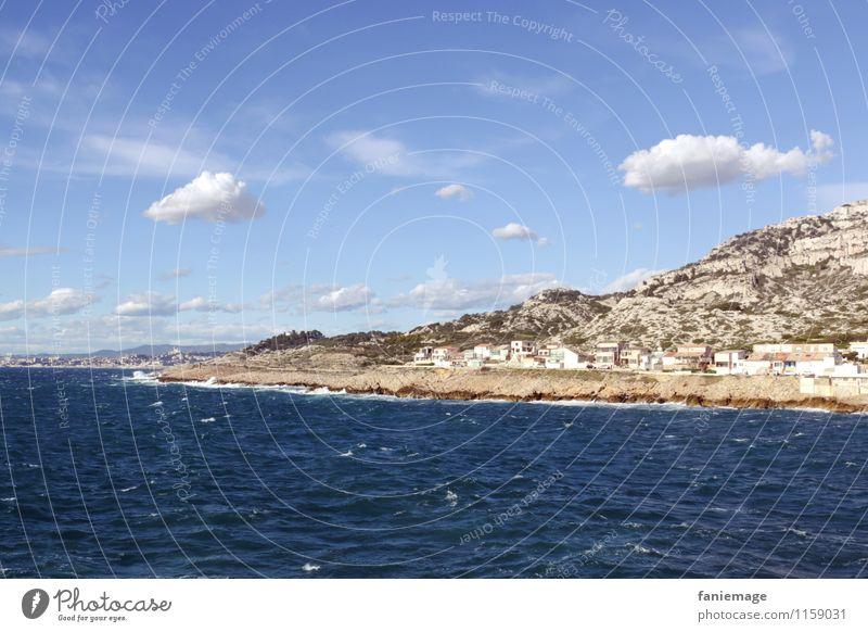 Mistral Umwelt Natur Landschaft Urelemente Wasser Himmel Wolken Frühling Wellen Küste Meer Erholung mistral Wind Marseille Südfrankreich Frankreich Provence