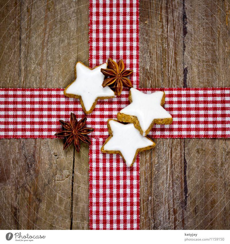 Zimtsterne Weihnachten & Advent Winter Holz süß Stern (Symbol) Kräuter & Gewürze Jahreszeiten Postkarte Süßwaren aromatisch Holztisch Plätzchen Dezember Weihnachtsgebäck Gutschein Zimt