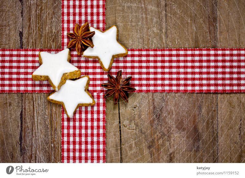 Zimtsterne Weihnachten & Advent Plätzchen Weihnachtsgebäck Sternanis aromatisch Postkarte Holz Holztisch Dezember Kräuter & Gewürze Jahreszeiten Gutschein