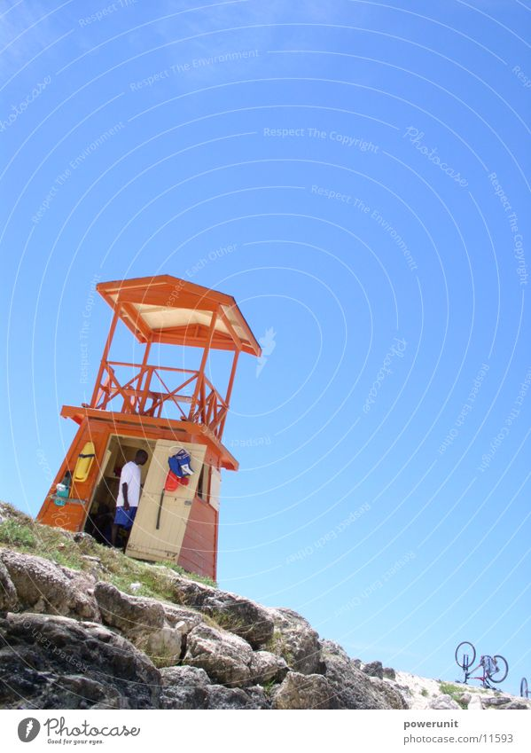 Bajian Baywatch Himmel Sonne Strand Turm Schwimmen & Baden Kuba Toskana Campanile Barbados