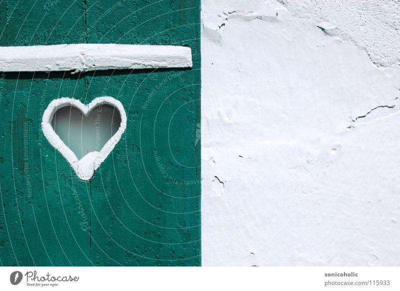 Herzilein weiß Liebe Wand Fenster Holz Dekoration & Verzierung Salzkammergut Wolfgangsee
