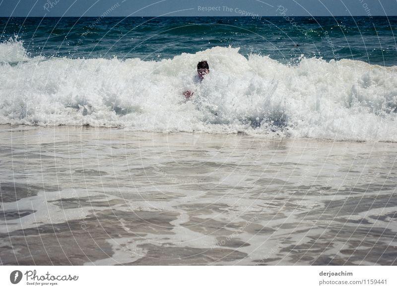 Wetter / Schaumbad Mensch Kind Jugendliche weiß Sommer Wasser Erholung Meer Junger Mann Freude Schwimmen & Baden Kopf maskulin Kindheit fantastisch
