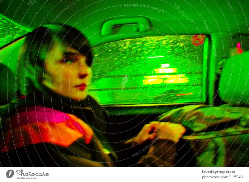 Taxi Fahrt grün Farbe PKW giftgrün