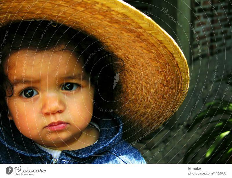 Chiniquicuicui II Mädchen blau Gesicht Auge Lomografie Kleinkind Mexiko