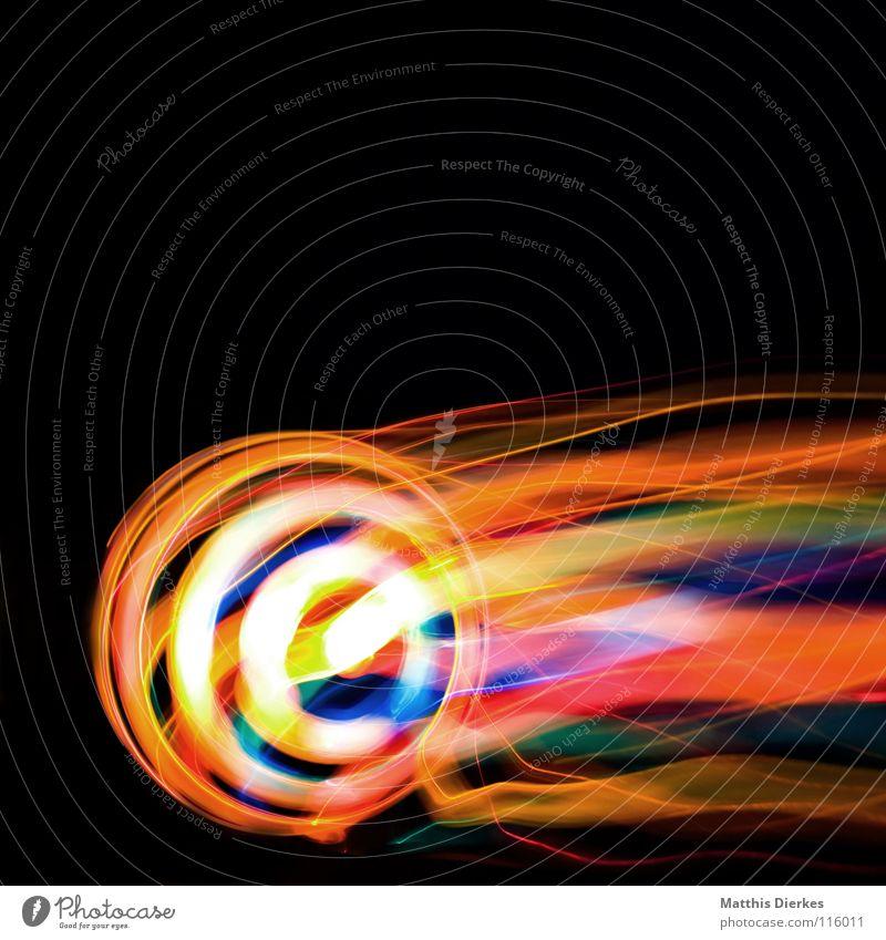 Komet II Licht Lichtspiel Lichterkette Stativ Langzeitbelichtung Strahlung Kurve Bilanz Statistik Verlauf Spuren tief Geschwindigkeit kreisen Konjunktur