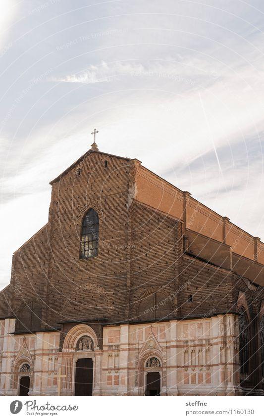 Bologna | erleuchtet Stadt Italien Emilia Romagna Religion & Glaube Kirche Dom San Petronio Fassade Marmor historisch Schönes Wetter Frühling Sonnenlicht Anmut