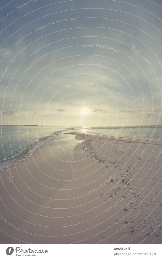 infinity Ferien & Urlaub & Reisen blau Wasser Erholung Meer Landschaft ruhig Freude Umwelt Gefühle Schwimmen & Baden Sand Horizont Zufriedenheit Insel
