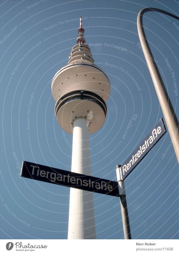Funkturm Hamburg Himmel blau Architektur Turm