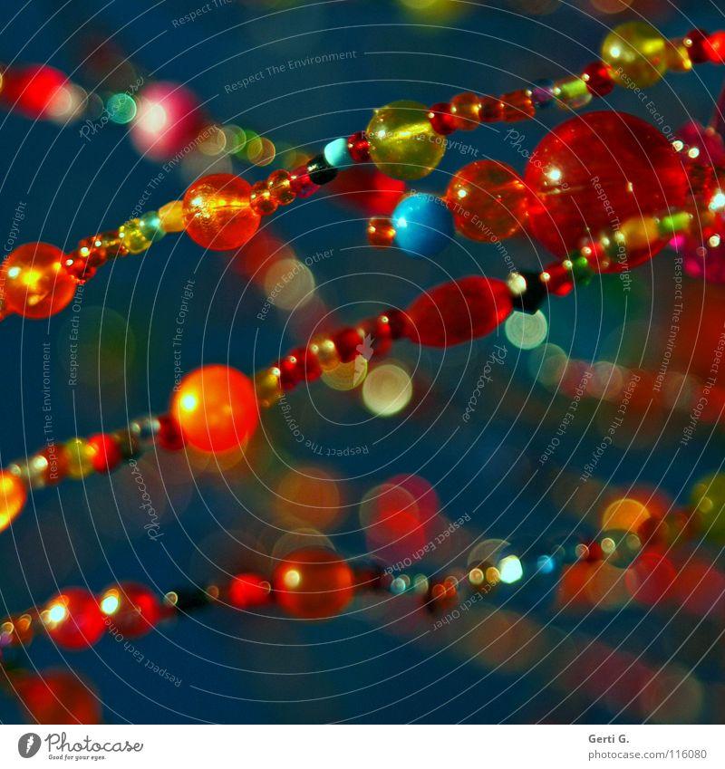 KLUNKER YOUR BEAUTIFUL LIFE Farbe Lampe Linie hell Kunst glänzend gold violett Punkt Reichtum Schmuck niedlich türkis Kette diagonal Fleck