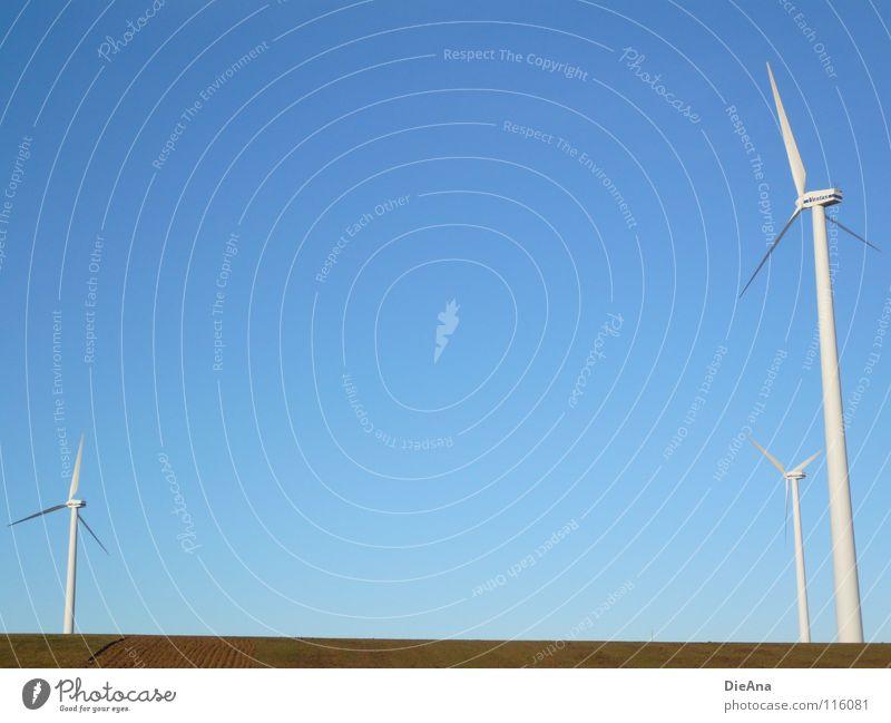 energy Winter Energiewirtschaft Technik & Technologie Erneuerbare Energie Windkraftanlage Umwelt Natur Landschaft Schönes Wetter Feld groß kalt modern