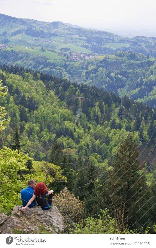Burning Kybfelsen Mensch Frau Natur Jugendliche Mann Pflanze Junge Frau Landschaft Junger Mann Ferne Wald Erwachsene Umwelt Berge u. Gebirge feminin Paar