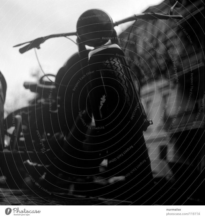 starke Sache Motor Motorrad Beiwagen Oldtimer Geschwindigkeit Beschleunigung fahren Speichen Lampe Muster Maschine Rocker Fahrtwind Helm Monster Maschinenbau