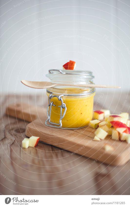 Kürbis-Apfel-Suppe Gesundheit Frucht frisch Ernährung lecker Apfel Geschirr Vegetarische Ernährung Suppe Slowfood