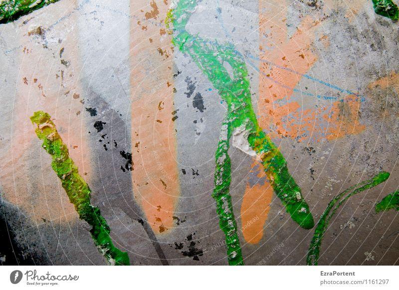Verlauf grün Farbe Haus dunkel Wand Graffiti Gebäude Mauer grau Kunst Metall Fassade orange Freizeit & Hobby Design wild