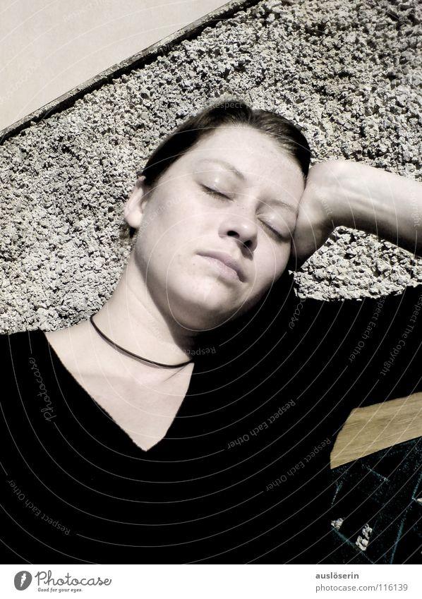 Abschweifen Ferien & Urlaub & Reisen träumen Denken Linie schlafen Vergänglichkeit Langeweile Sonnenbad Gedanke Mallorca Spanien