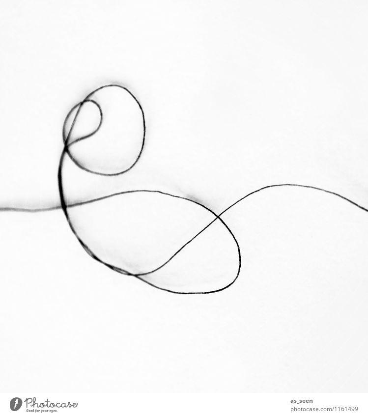 Verschlungene Wege weiß schwarz Leben Bewegung Wege & Pfade Stil Haare & Frisuren Mode Freizeit & Hobby Zufriedenheit Design elegant ästhetisch Schnur rund