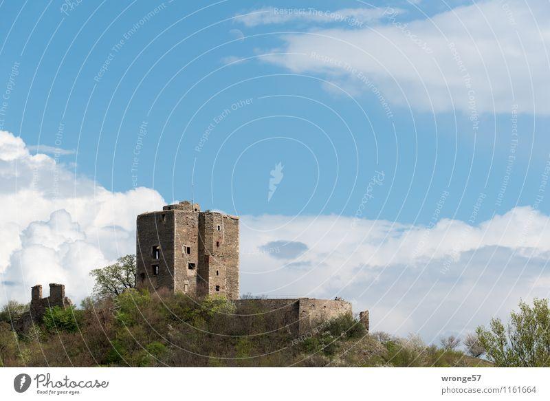 Burg Arnstein | Erinnerung Stadt alt blau grün Ferne Berge u. Gebirge Gebäude Stein braun Deutschland Tourismus hoch groß Europa Schönes Wetter