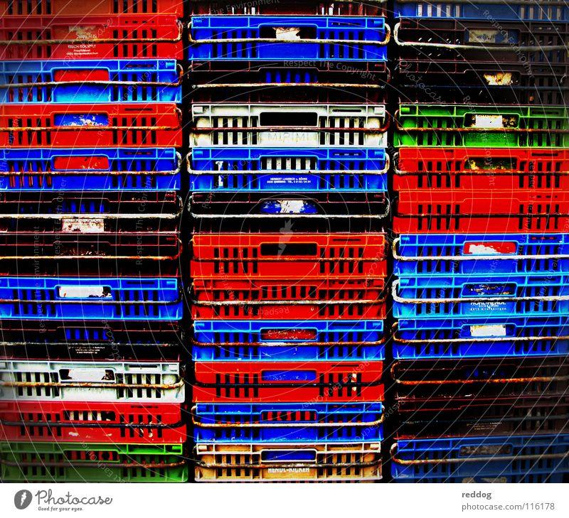 colors Farbe Leben Erfolg Güterverkehr & Logistik obskur Markt Kiste Stapel