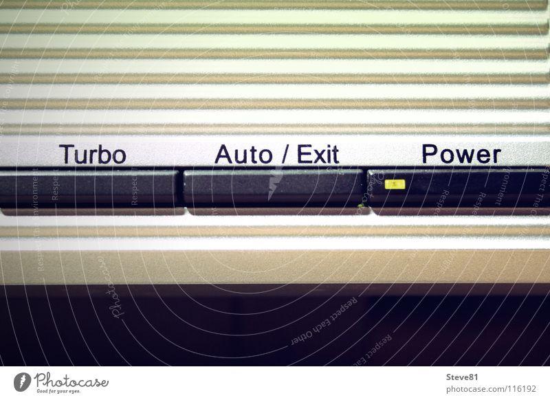 Turbo Auto / Exit Power Knöpfe Dünnschichttransistor Schaltpult Spielkonsole Kraft Industriefotografie Kellner Medien Statue turbo exit Leuchtdiode panel