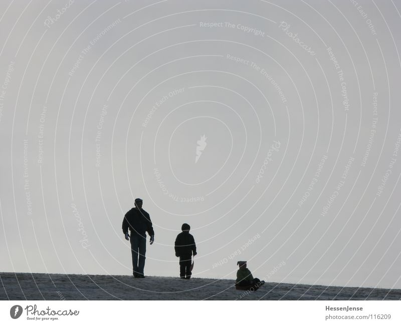 Kontrast 1 Vater Sohn Tochter Feldberg Gipfel Generation Zuneigung abwärts aufwärts Mütze kalt Handschuhe Familie & Verwandtschaft Freizeit & Hobby Freude