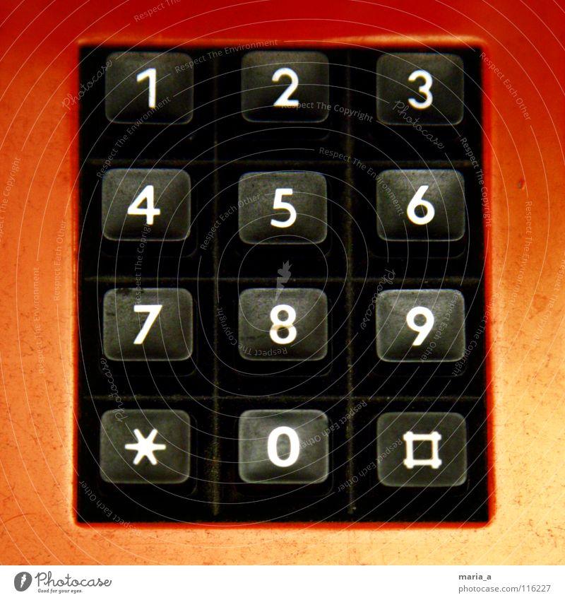 123456789*0# alt weiß rot schwarz leer berühren Telefon Stern (Symbol) Ziffern & Zahlen Knöpfe