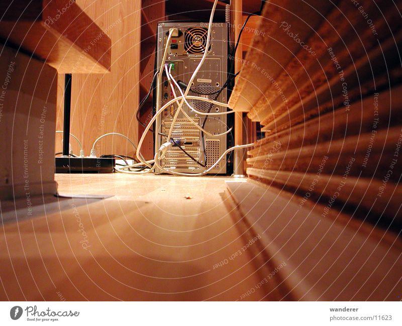 von hinten Computer Rückseite Elektrisches Gerät Technik & Technologie