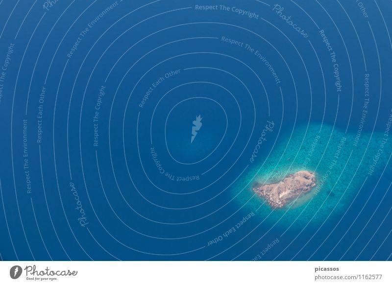 Flugzeug Fensterblick Komodo Ferien & Urlaub & Reisen Landschaft fliegen Luftverkehr Insel