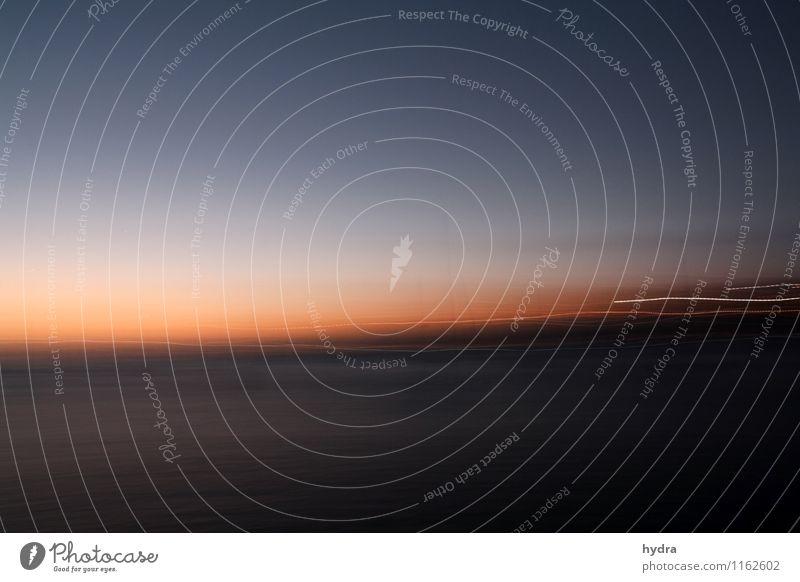 Rausch harmonisch Erholung Ferien & Urlaub & Reisen Ferne Freiheit Sommerurlaub Meer Kreuzfahrt Segeln Luft Wasser Wolkenloser Himmel Nachthimmel Horizont