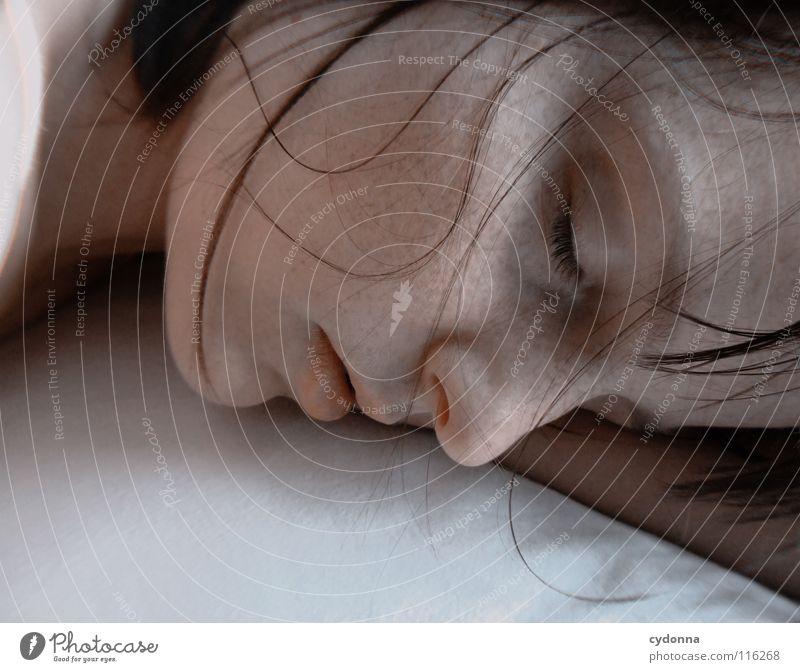 Silence Frau Mensch Natur schön schwarz ruhig feminin Leben Gefühle Kopf Haare & Frisuren Stil Traurigkeit träumen Kunst Mund