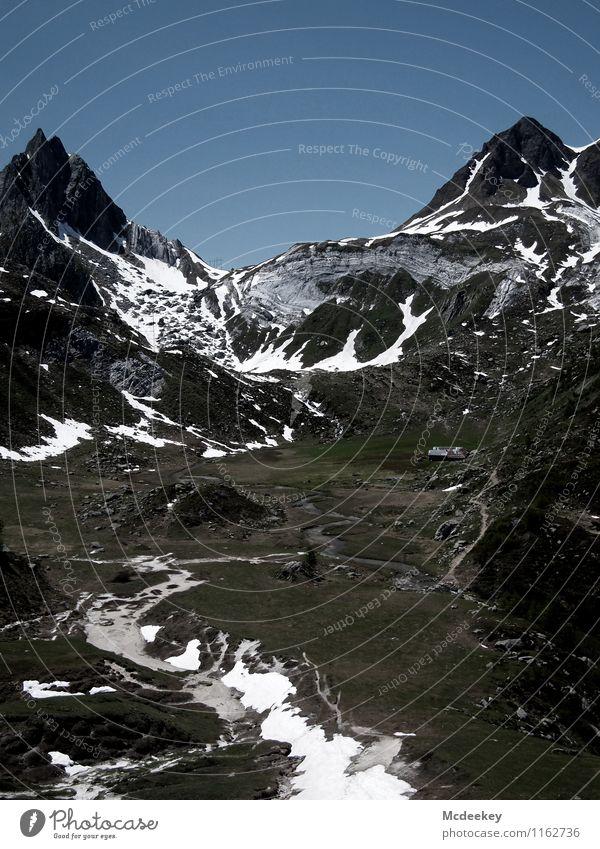 Gesteinswellen Umwelt Natur Landschaft Himmel Wolkenloser Himmel Sommer Schönes Wetter Pflanze Baum Blume Gras Sträucher Felsen Alpen Berge u. Gebirge Gipfel