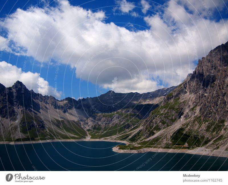 Wattebausch Himmel Natur blau Pflanze grün Sommer Wasser weiß Sonne Landschaft Wolken Ferne schwarz Berge u. Gebirge Umwelt Wärme