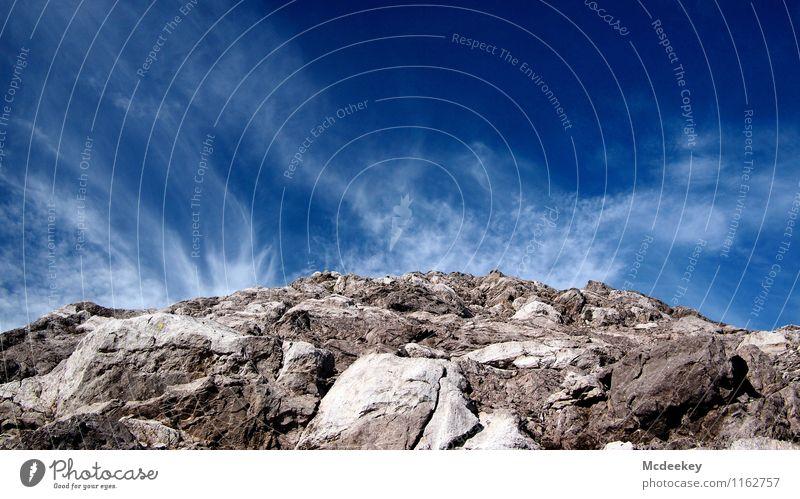Rauchendes Gestein Himmel Natur blau Sommer weiß Landschaft Wolken schwarz Berge u. Gebirge Umwelt natürlich grau Stein braun Felsen authentisch